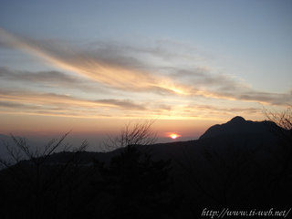 榛名での日の出